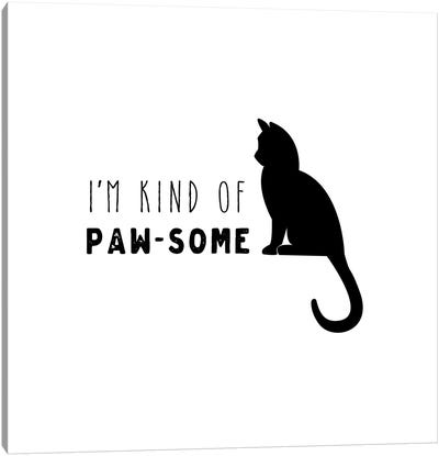 Pawesome Cat Canvas Art Print