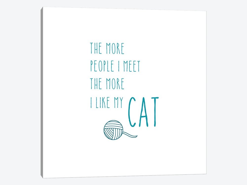 The More I Like My Cat by Amanda Murray 1-piece Canvas Artwork