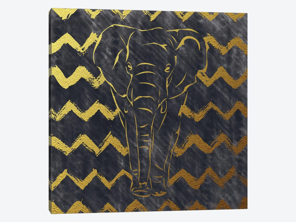 Brushed Elephant by Amanda Murray 1-piece Canvas Print