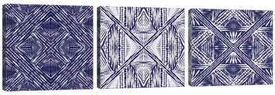 Inky Kaleidoscope Triptych Canvas Art Print