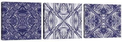 Inky Kaleidoscope Triptych Canvas Art Print