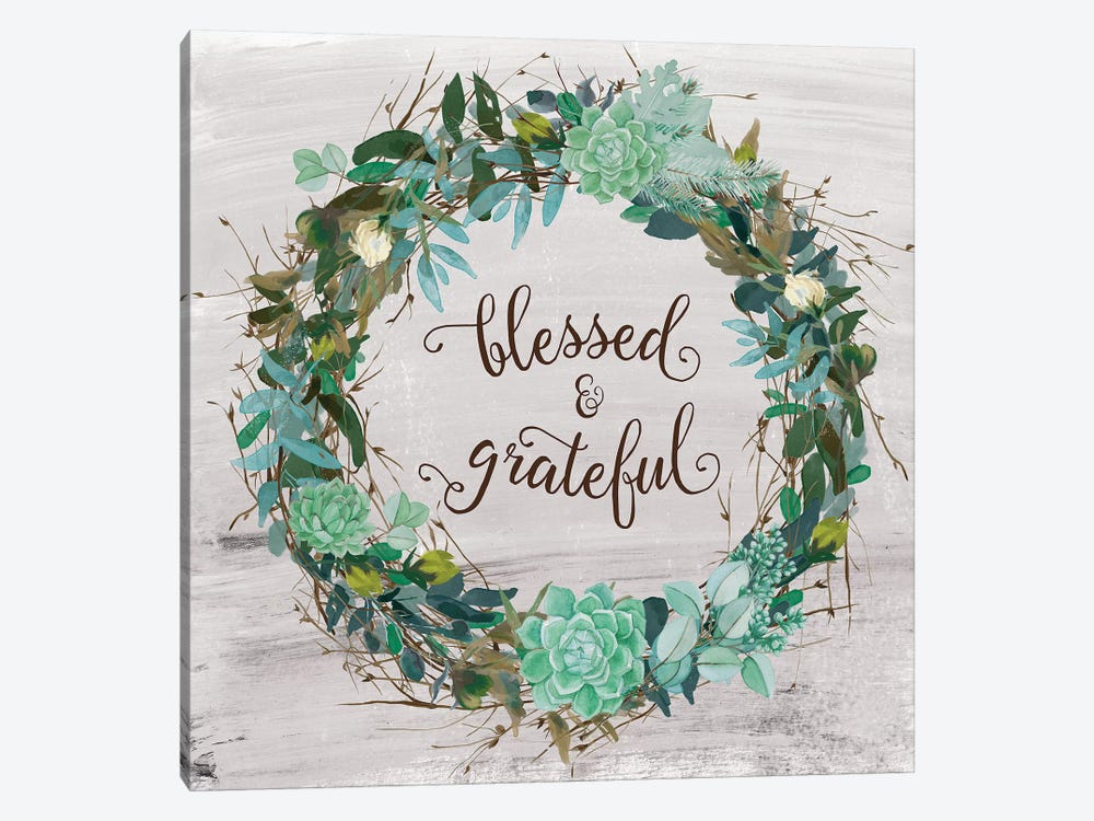 Blessed & Grateful by Amanda Murray 1-piece Canvas Artwork