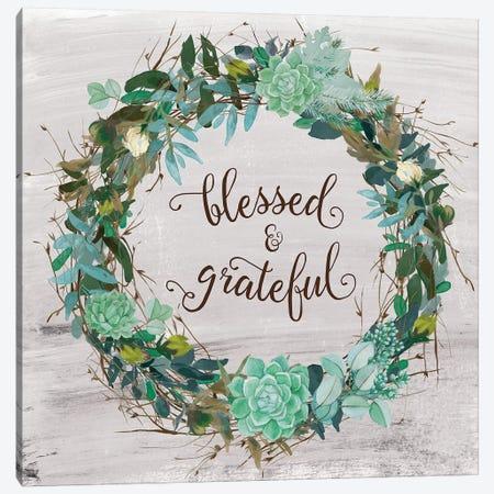 Blessed & Grateful Canvas Print #AMD42} by Amanda Murray Canvas Artwork