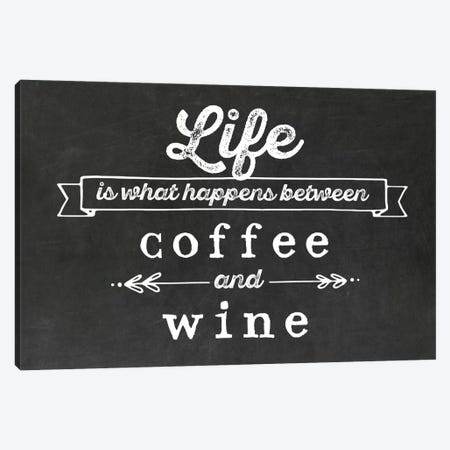 Coffee & Wine Canvas Print #AMD43} by Amanda Murray Canvas Wall Art