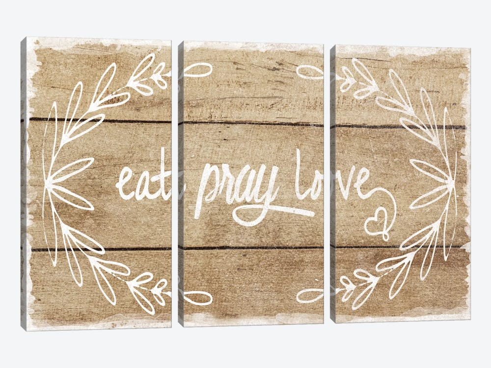 Eat, Pray, Love by Amanda Murray 3-piece Canvas Artwork