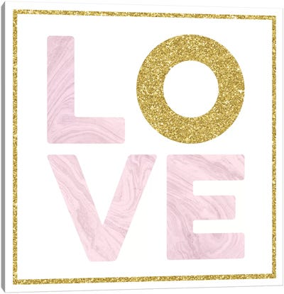 Glam Love Canvas Art Print