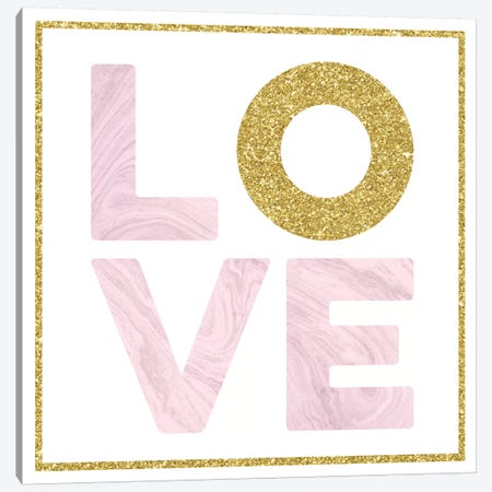 Glam Love 3-Piece Canvas #AMD49} by Amanda Murray Canvas Artwork