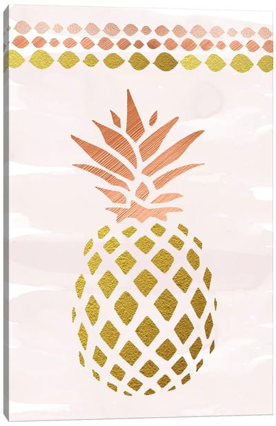 Glam Pineapple Canvas Art Print