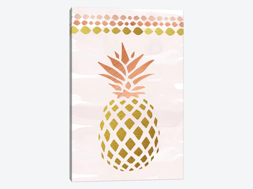 Glam Pineapple by Amanda Murray 1-piece Canvas Art Print