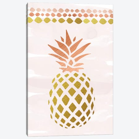 Glam Pineapple Canvas Print #AMD50} by Amanda Murray Art Print