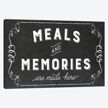 Meals & Memories Canvas Print #AMD55} by Amanda Murray Canvas Art