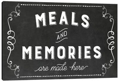 Meals & Memories Canvas Art Print