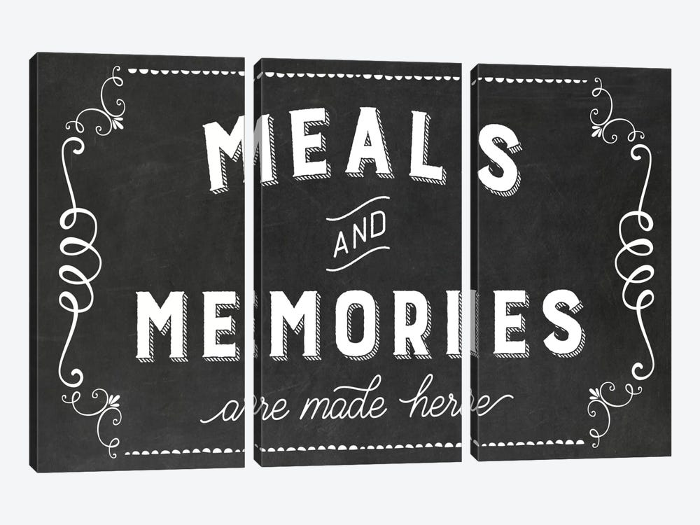 Meals & Memories by Amanda Murray 3-piece Canvas Artwork