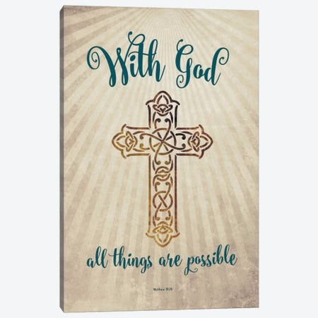 With God Canvas Print #AMD57} by Amanda Murray Canvas Artwork