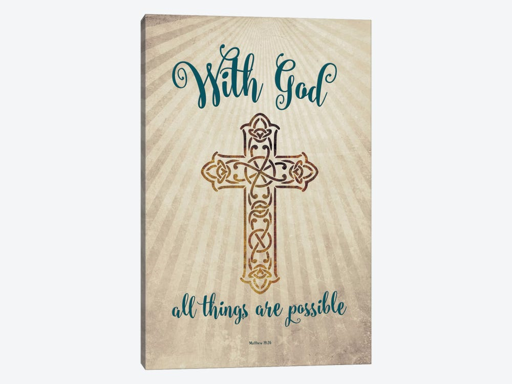 With God by Amanda Murray 1-piece Canvas Artwork