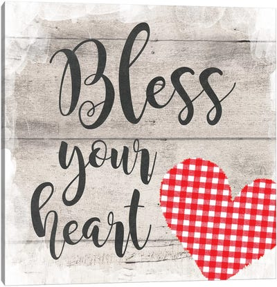 Bless Your Heart Canvas Art Print