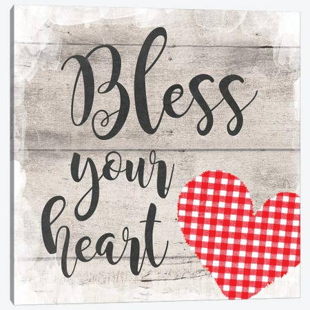 Bless Your Heart 3-Piece Canvas #AMD58} by Amanda Murray Canvas Print
