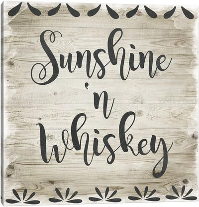 Sunshine 'N Whiskey Canvas Art Print