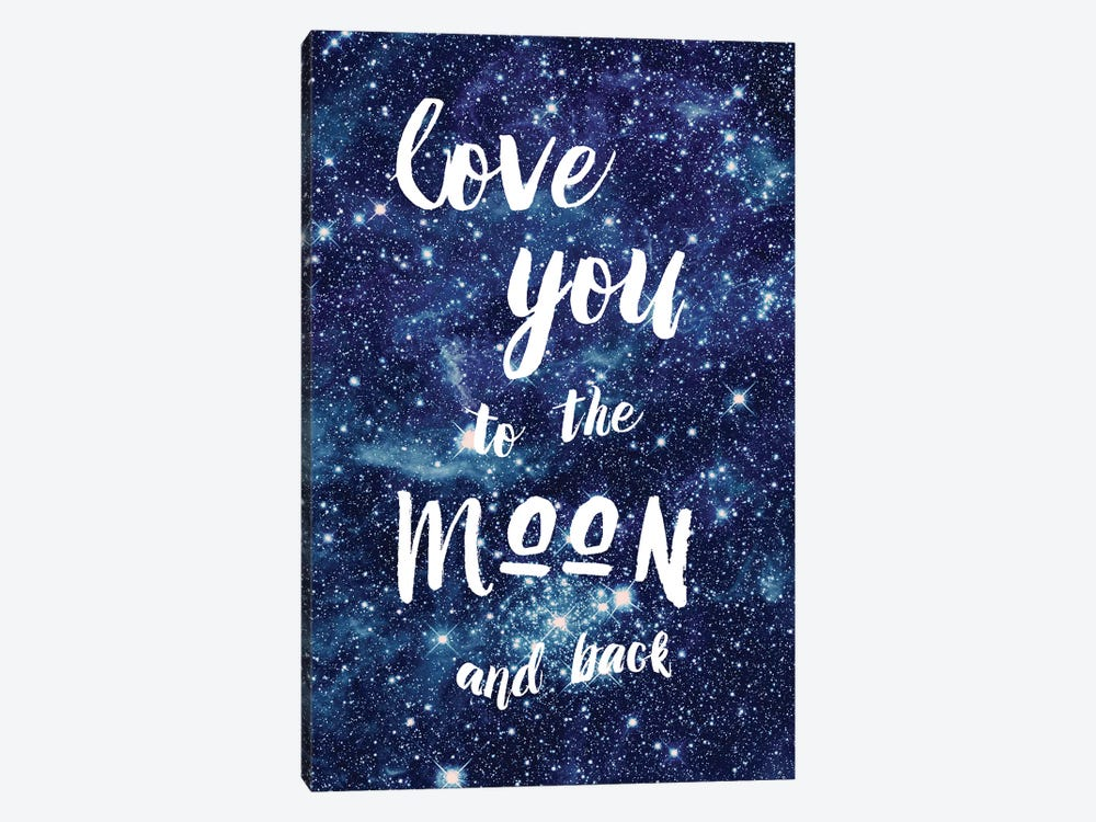 Love You To The Moon by Amanda Murray 1-piece Canvas Print
