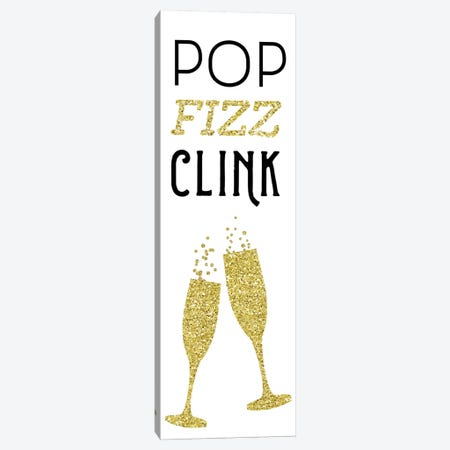 Pop Clink Fizz 3-Piece Canvas #AMD75} by Amanda Murray Canvas Wall Art