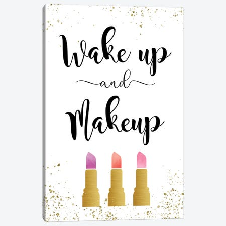 Wake Up & Makeup Canvas Print #AMD76} by Amanda Murray Canvas Wall Art
