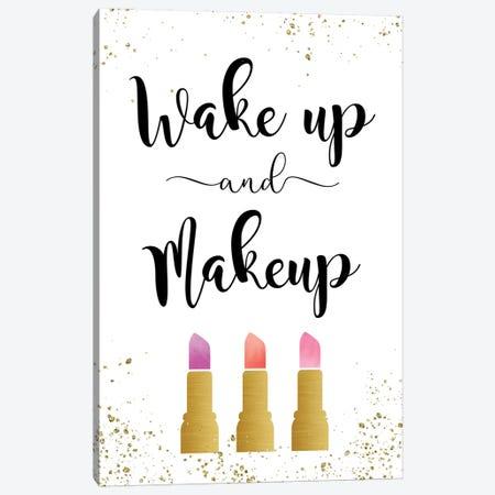 Wake Up & Makeup Canvas Print #AMD76} by Amanda Murray Canvas Wall Art