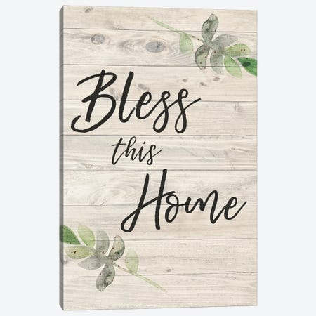 Bless This Home Canvas Print #AMD79} by Amanda Murray Canvas Print