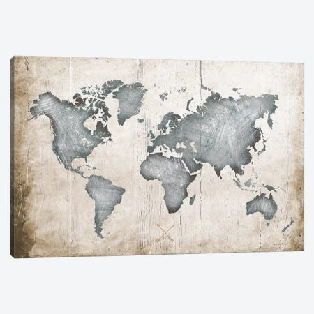 Industrial Map Canvas Print #AMD80} by Amanda Murray Canvas Wall Art