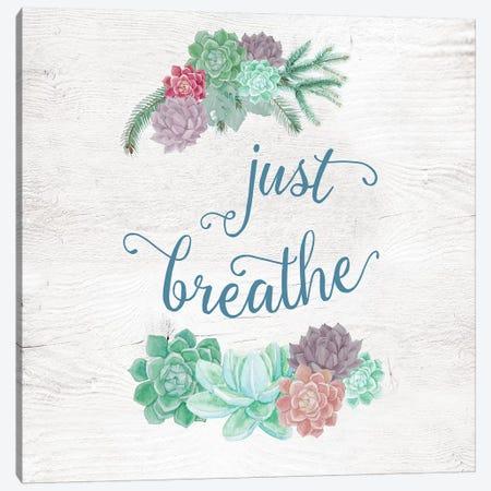 Just Breathe Canvas Print #AMD81} by Amanda Murray Canvas Art