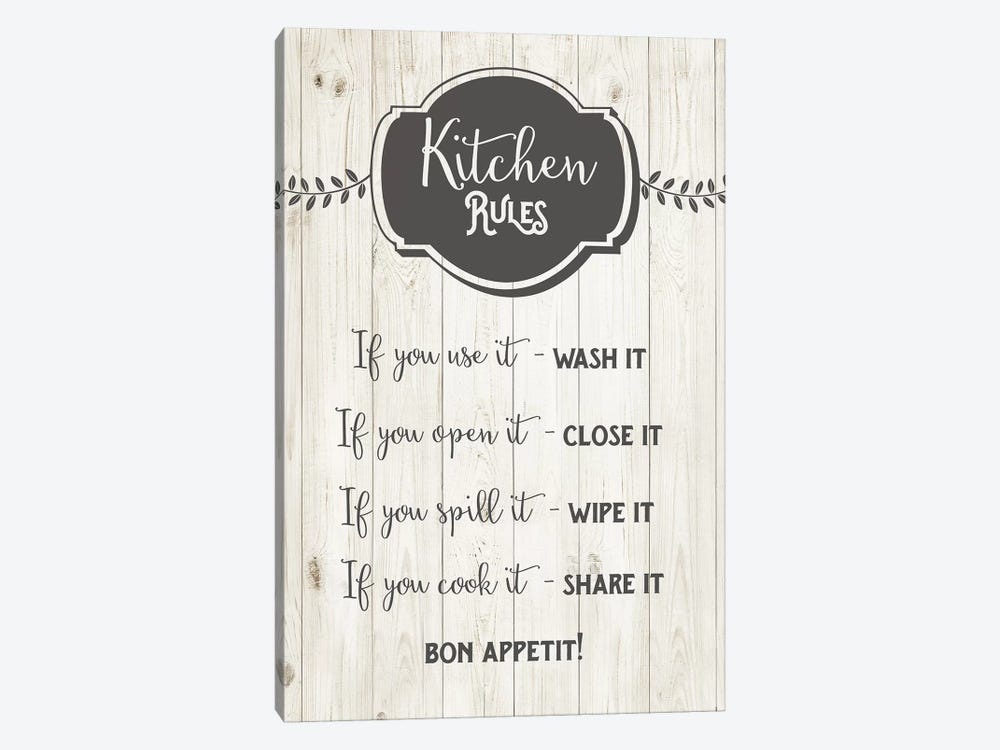 Kitchen Rules by Amanda Murray 1-piece Canvas Wall Art