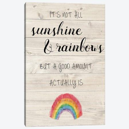 Sunshine and Rainbows Canvas Print #AMD87} by Amanda Murray Canvas Print