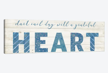 Grateful Heart Canvas Print #AMD95} by Amanda Murray Canvas Artwork