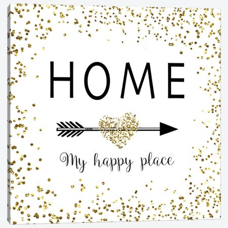 Home - My Happy Place Canvas Print #AMD9} by Amanda Murray Art Print