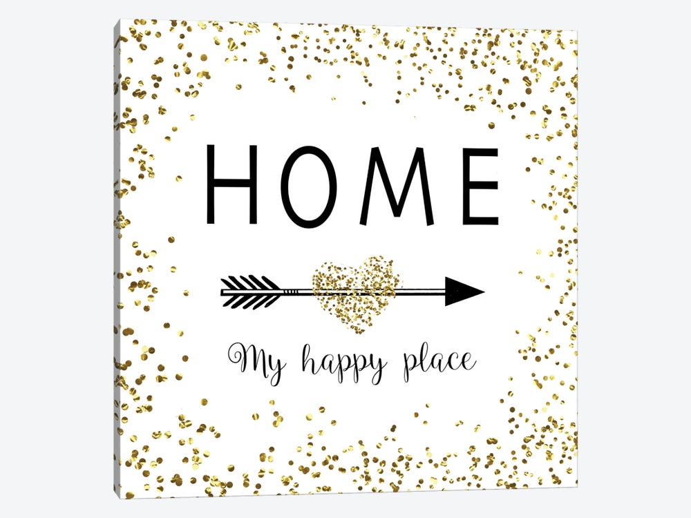 Home - My Happy Place by Amanda Murray 1-piece Canvas Print