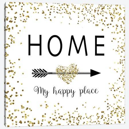 Home - My Happy Place Canvas Print #AMD9} by Amanda Murray Art Print