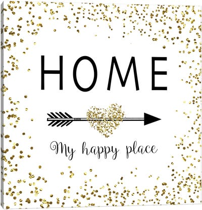 Home - My Happy Place Canvas Art Print