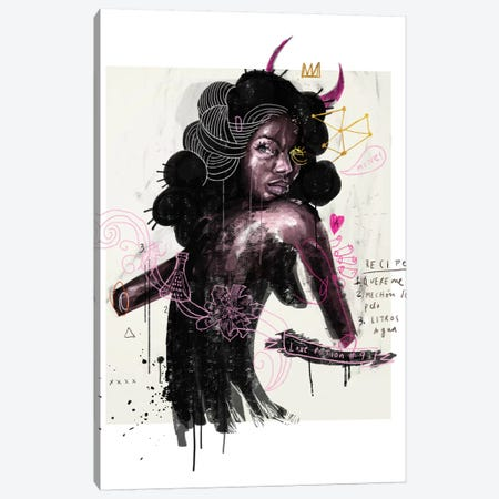 The Mad Wife Canvas Print #AME13} by Armando Mesias Canvas Wall Art