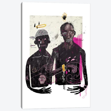 The Slave Lovers Canvas Print #AME15} by Armando Mesias Art Print