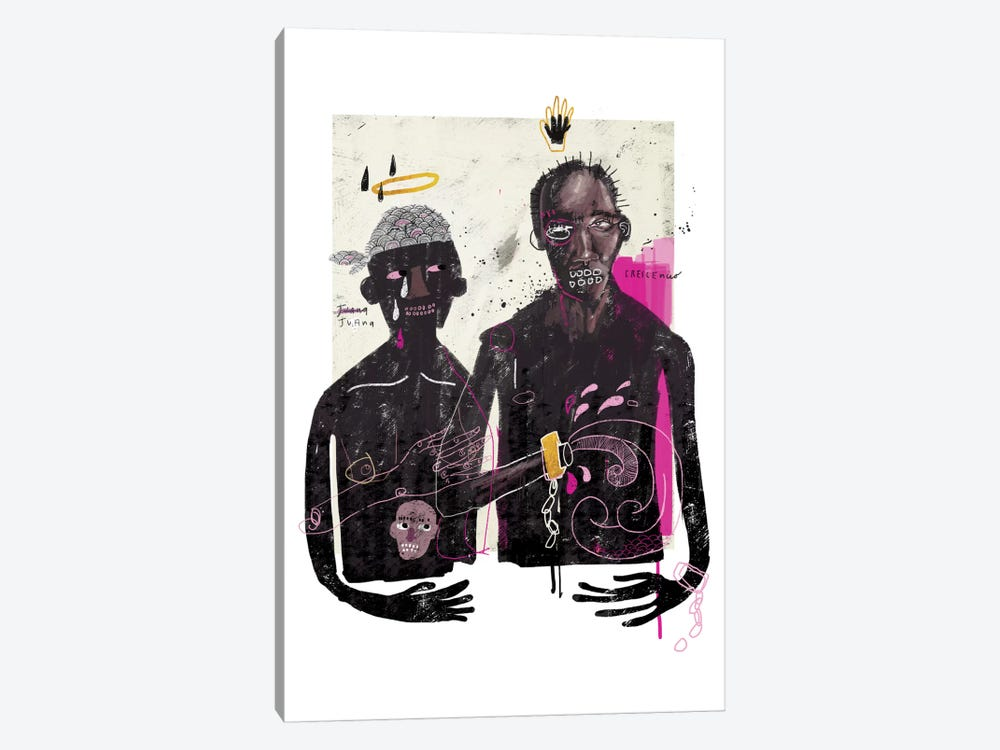 The Slave Lovers by Armando Mesias 1-piece Canvas Print