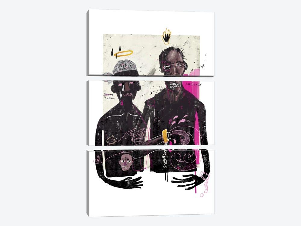 The Slave Lovers by Armando Mesias 3-piece Canvas Print