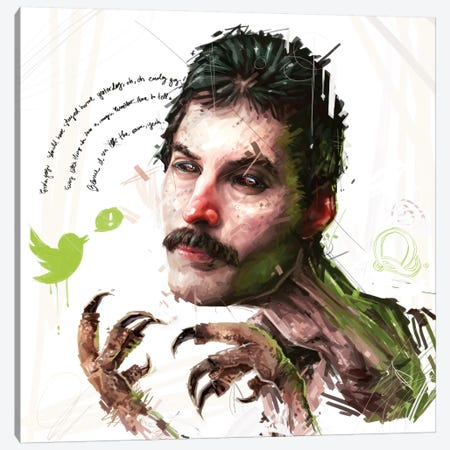 Fred Canvas Print #AME1} by Armando Mesias Canvas Wall Art