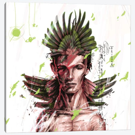 David Bowie Canvas Print #AME34} by Armando Mesias Art Print