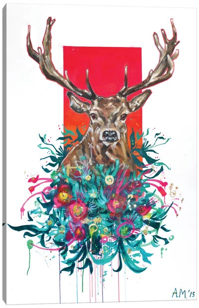 Deer Final Canvas Art Print