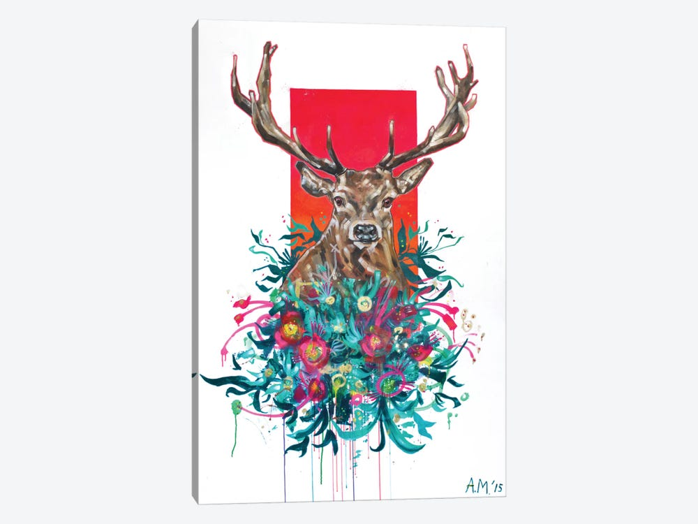 Deer Final by Armando Mesias 1-piece Canvas Print