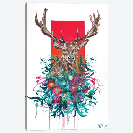 Deer Final Canvas Print #AME35} by Armando Mesias Canvas Art Print