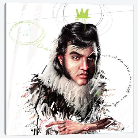 Elvis Canvas Print #AME39} by Armando Mesias Canvas Wall Art