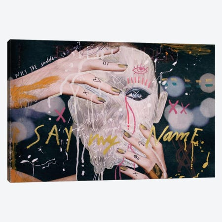 Say My Name Canvas Print #AME41} by Armando Mesias Art Print