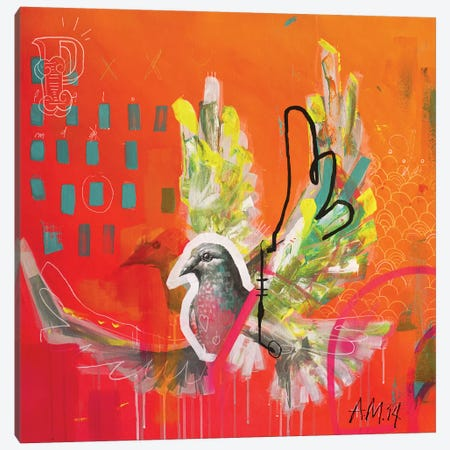 Paloma Canvas Print #AME42} by Armando Mesias Canvas Art Print