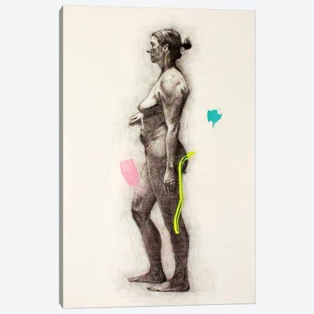 A Long Pose Canvas Print #AME49} by Armando Mesias Art Print