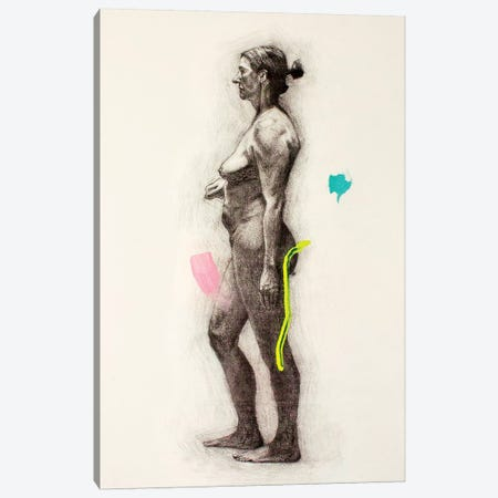 A Long Pose Canvas Print #AME49} by Armando Mesias Art Print